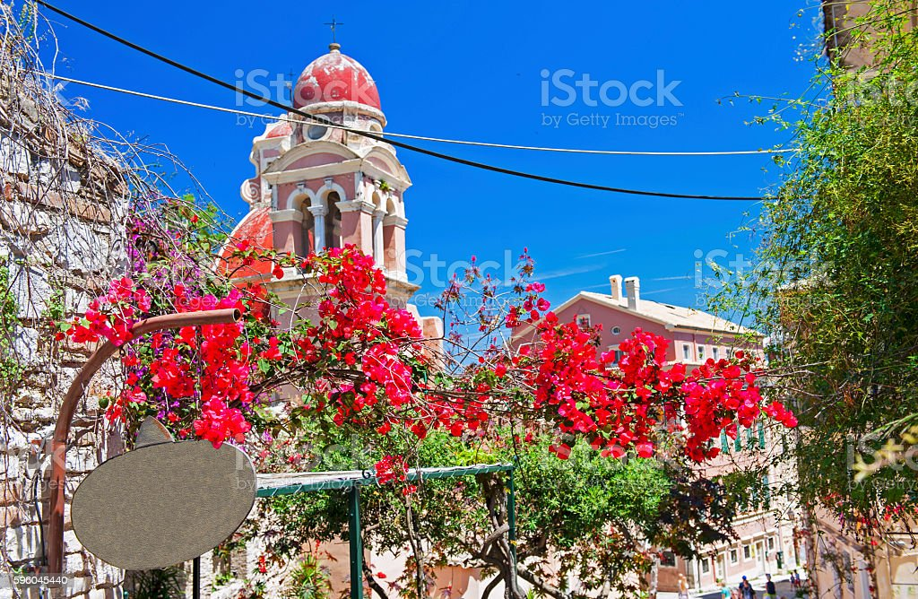 Corfu town royalty-free stock photo