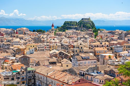 Corfu town skyline