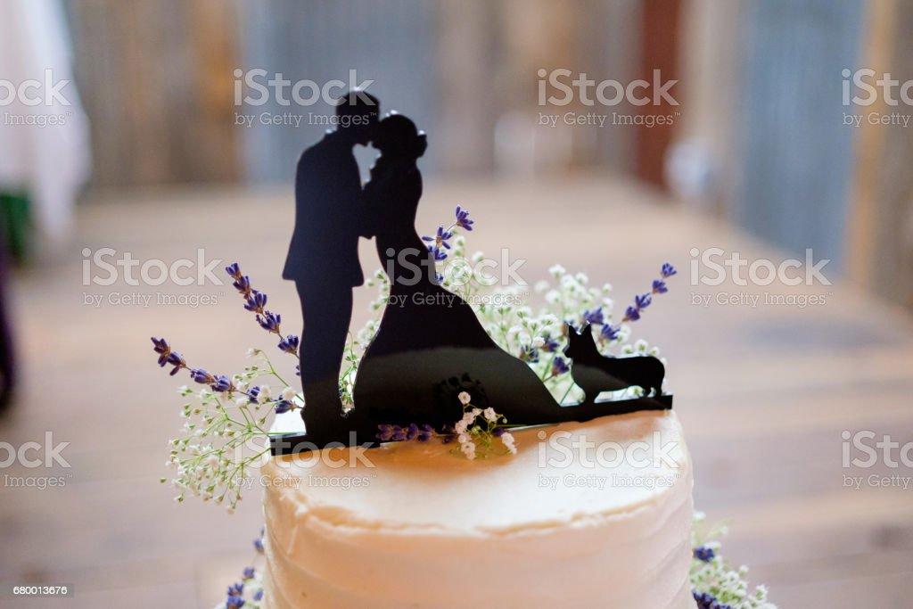 Corgi Wedding Cake Topper stock photo