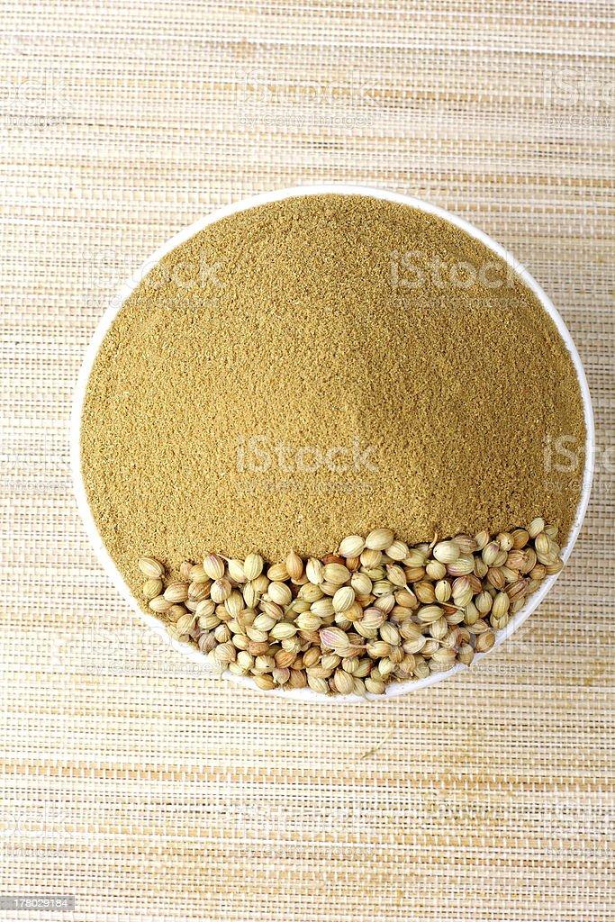 coriander powder. royalty-free stock photo