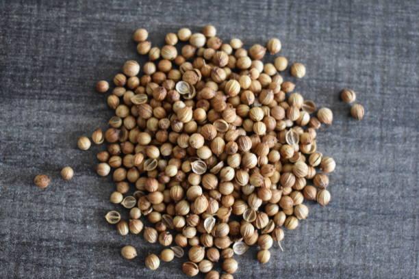 고수 씨앗 - 배경으로 사용할 수 있습니다 스톡 사진
