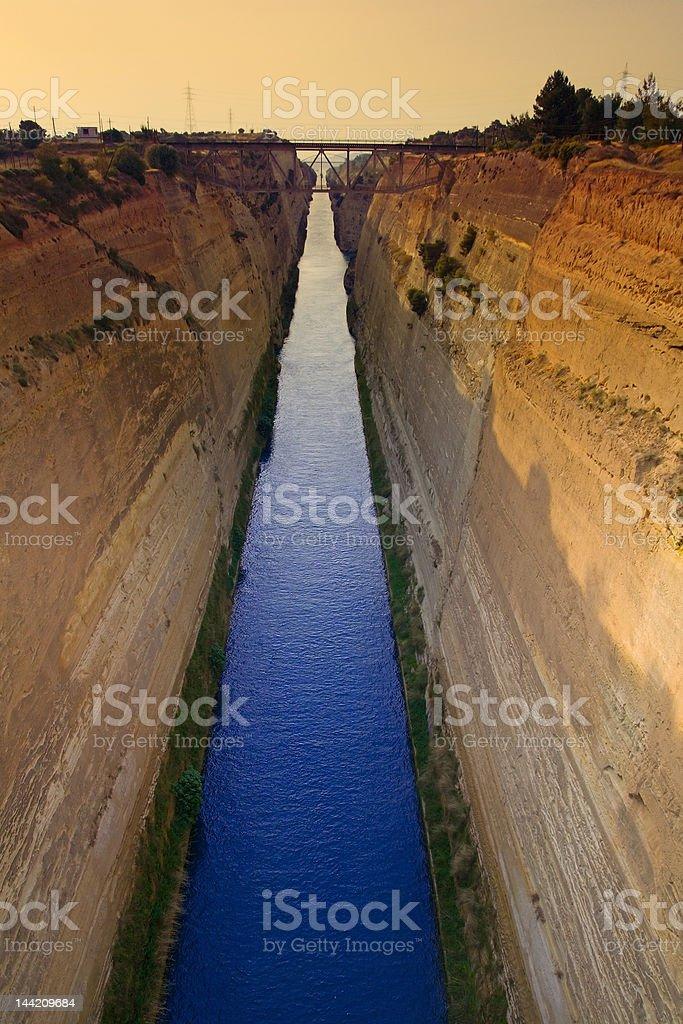 Corinth Canal, Greece royalty-free stock photo
