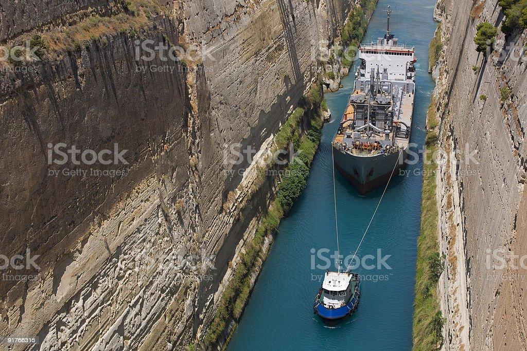 Corinth Crossing royalty-free stock photo