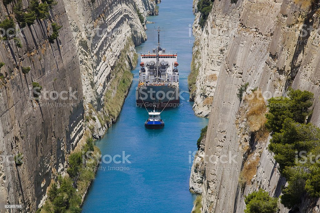 Corinth Crossing royalty-free stock photo