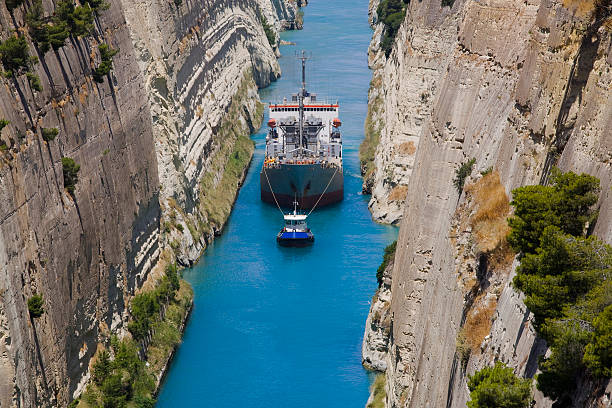 Corinth Crossing stock photo