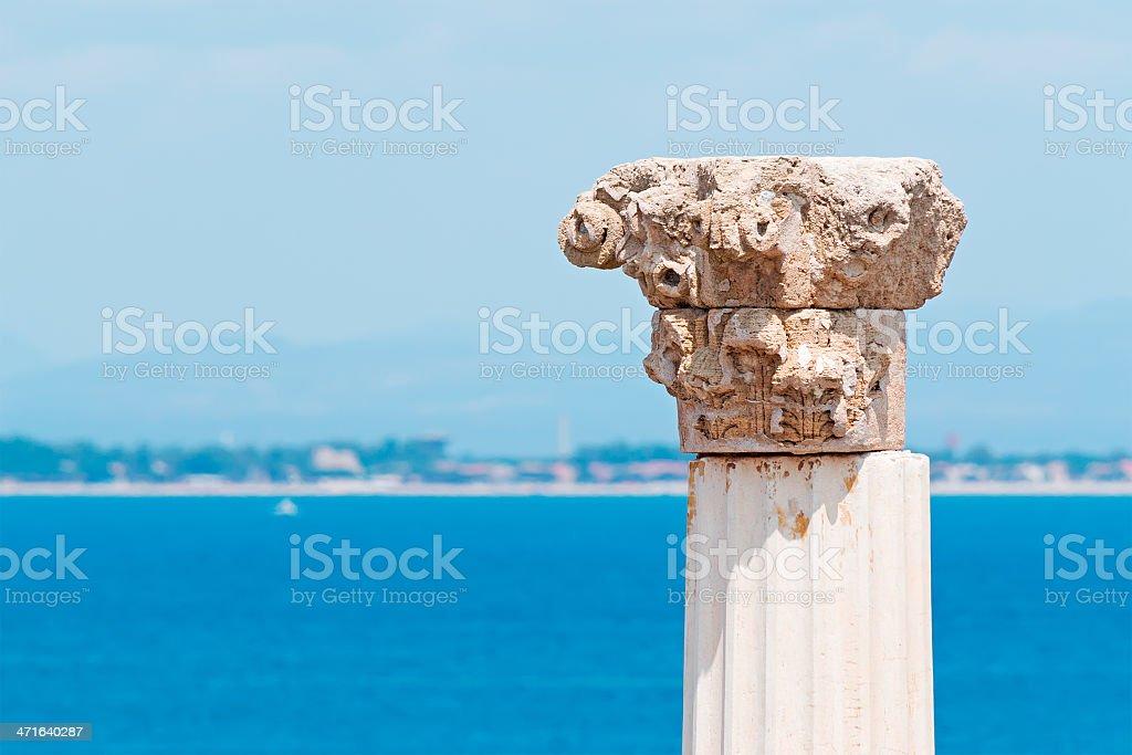 Corinthian capital royalty-free stock photo