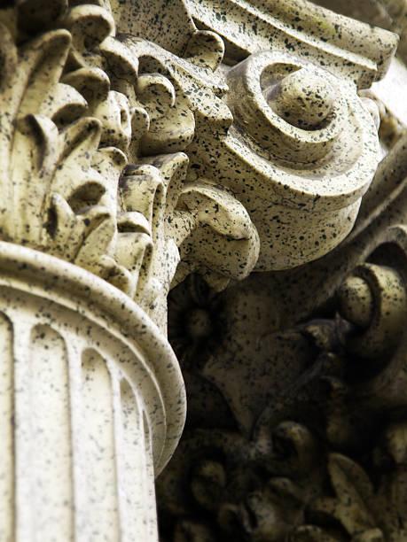 Detail einer korinthischen Säule – Foto