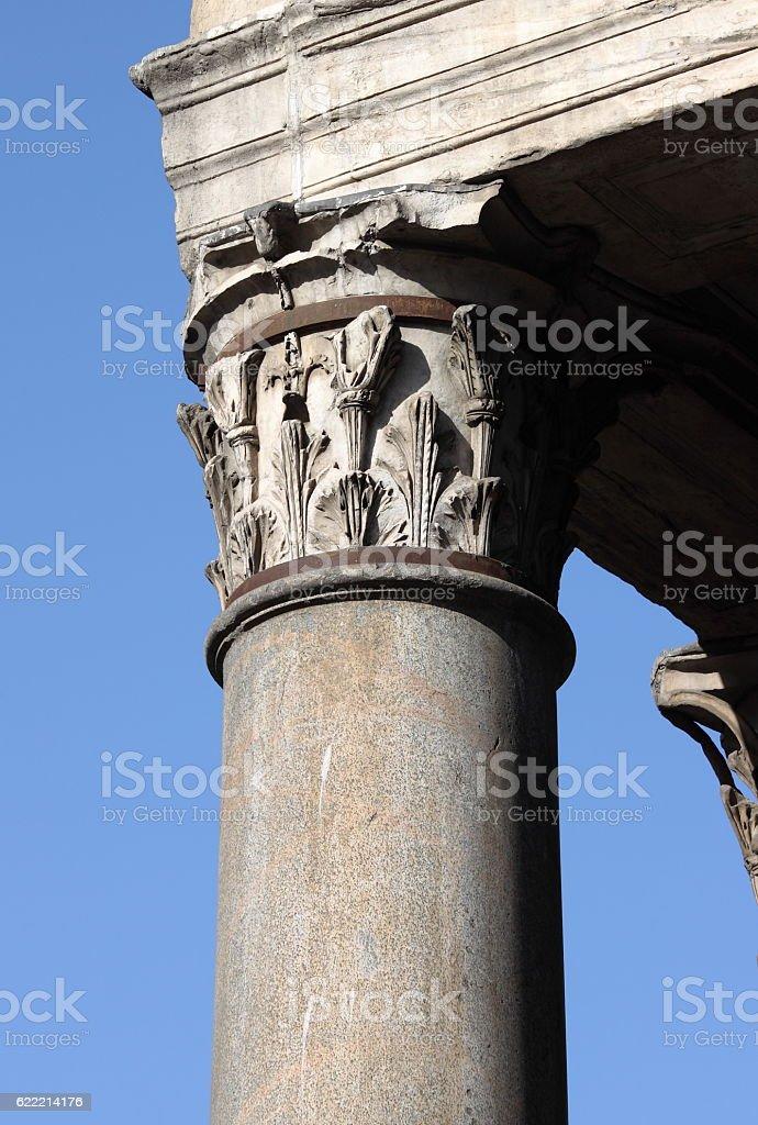 Corinthian column in Pantheon stock photo