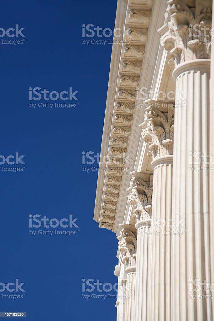 Corinthian Columns, Blue Sky royalty-free stock photo