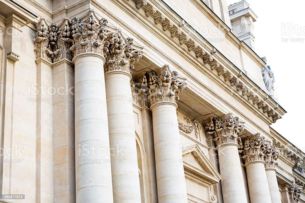 Corinthian columns, Paris, France stock photo