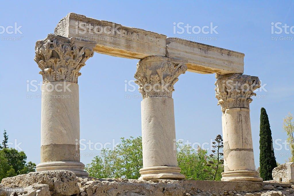 Corinthian columns stock photo