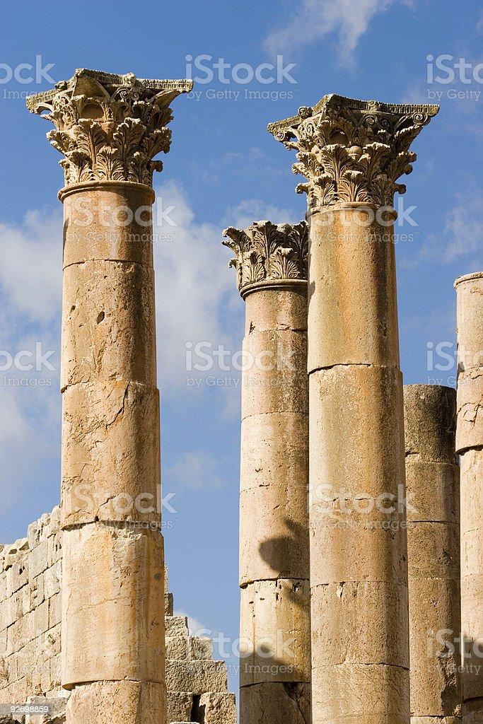 corinthian columns royalty-free stock photo