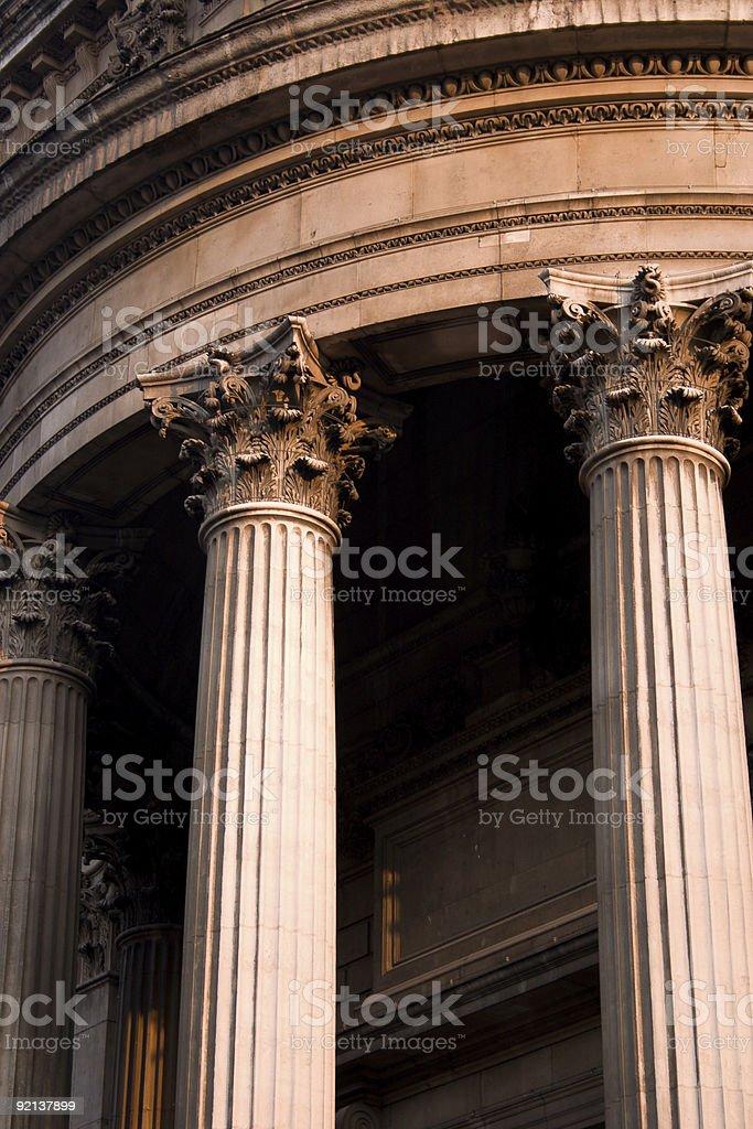 Corinthian columns St. Paul's, London royalty-free stock photo