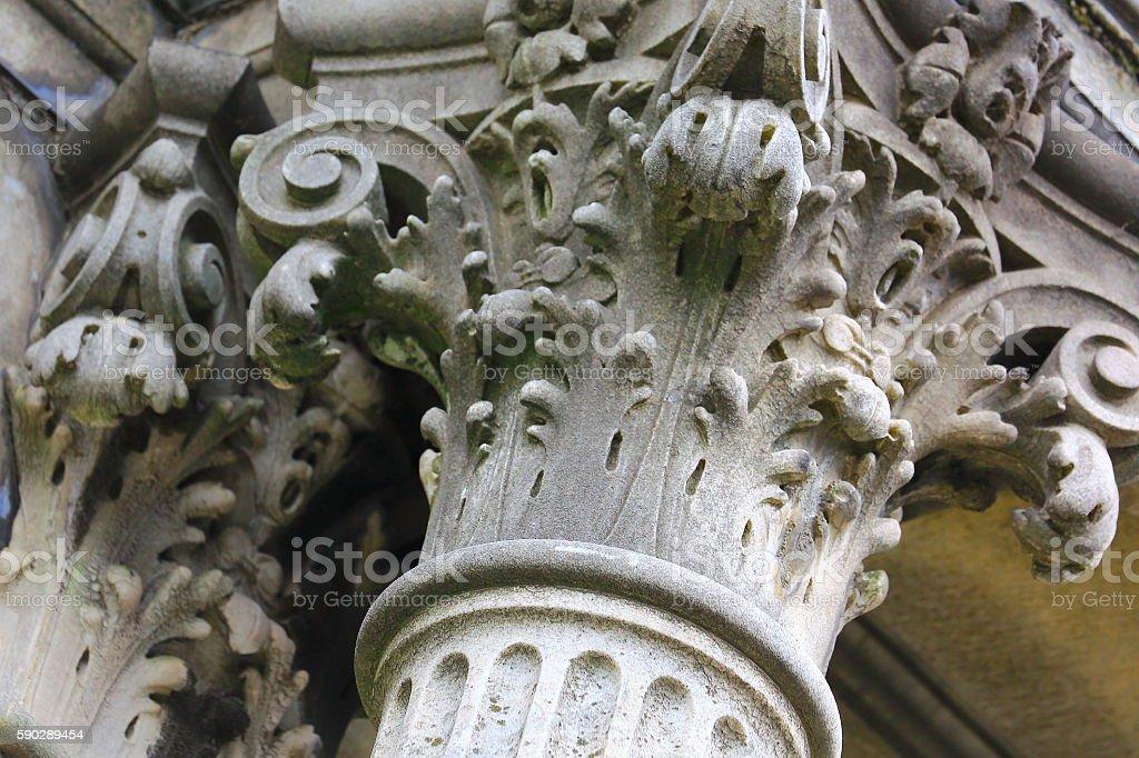 Corinthian greek architectural classical column facade building detail concept stock photo