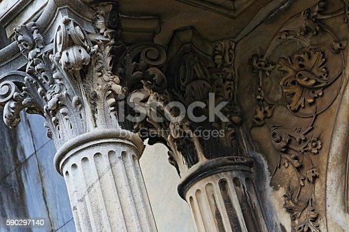 Corinthian greek architectural classical column facade building detail concept