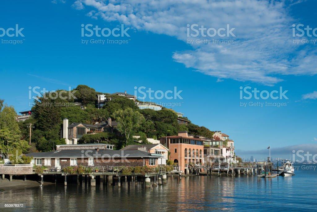 Corinthian Island and San Francisco stock photo