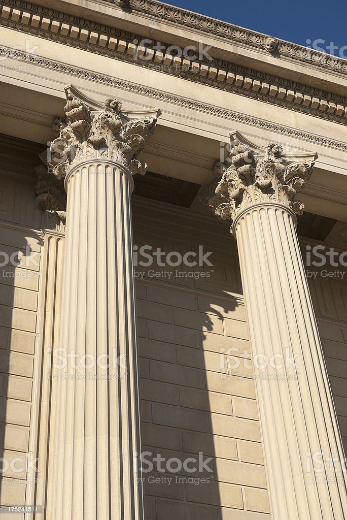 Corinthian order columns royalty-free stock photo