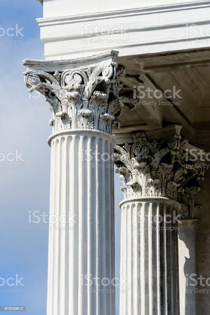 Corinthian Pillars, Charleston, South Carolina stock photo