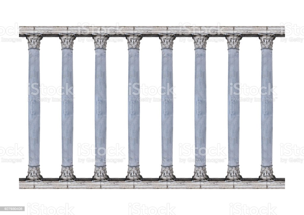 Corintian Order Columns Isolated Photo stock photo