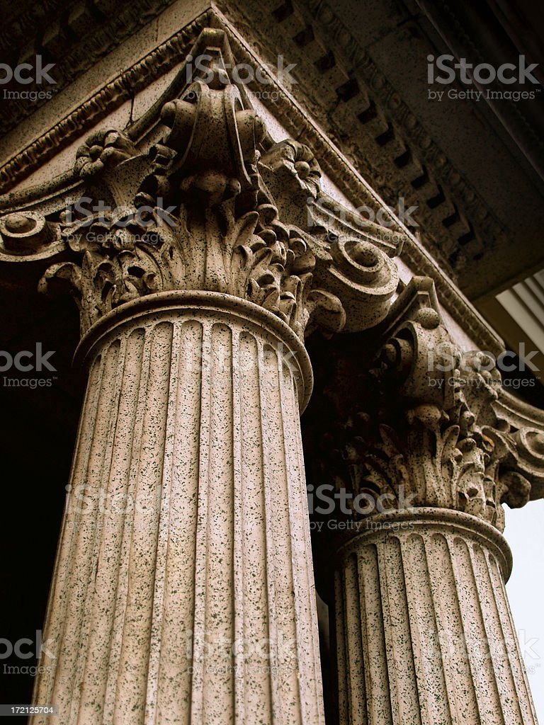 Corithian Columns stock photo