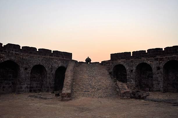 Corjuem Fort, military fortress, Goa, India stock photo