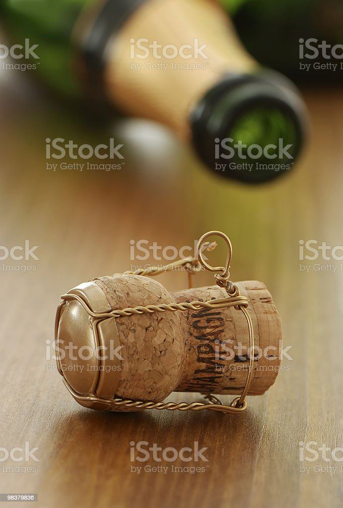 Cork and bottle royalty-free stock photo
