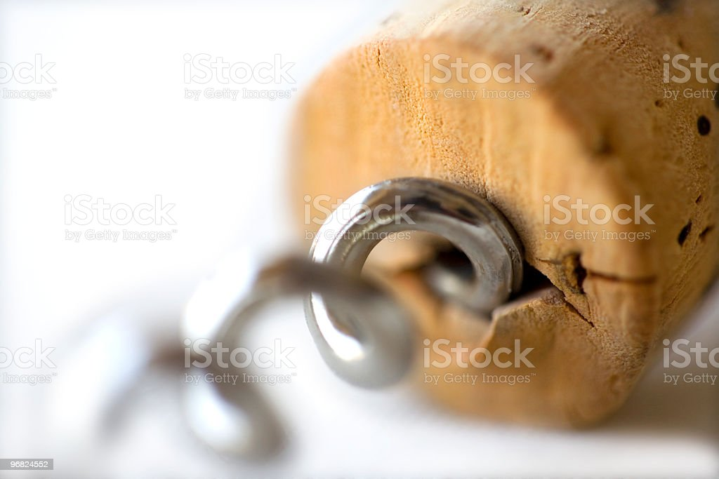 Cork and screw royalty-free stock photo