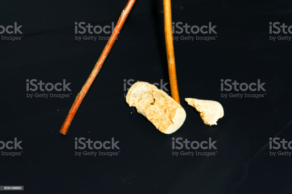 Cork And Stick stock photo