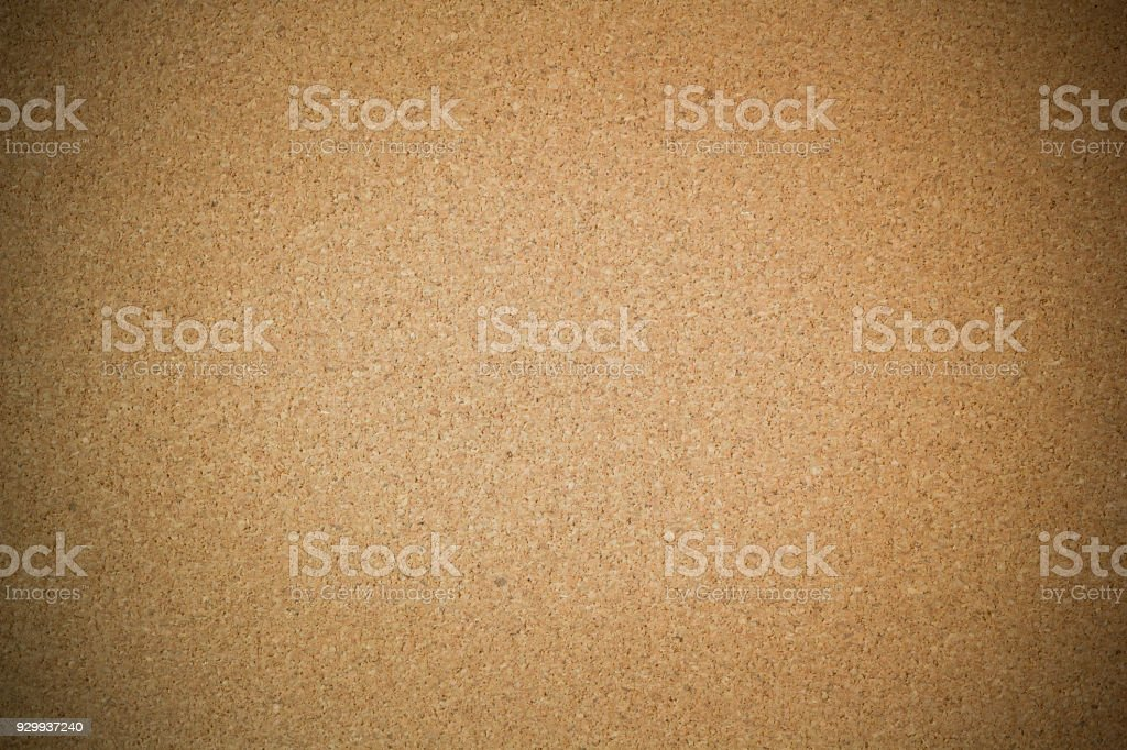 cork board background and texture with dark vignette stock photo