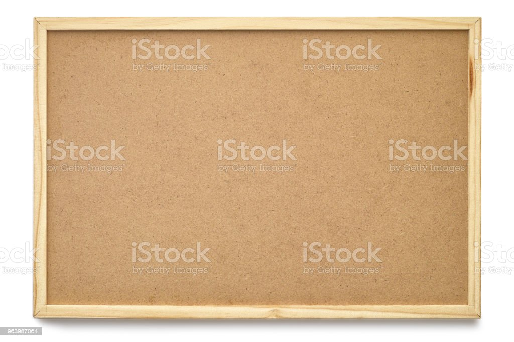 Cork board blackboard texture with empty blank frame isolated on white with clipping path - Royalty-free Backgrounds Stock Photo