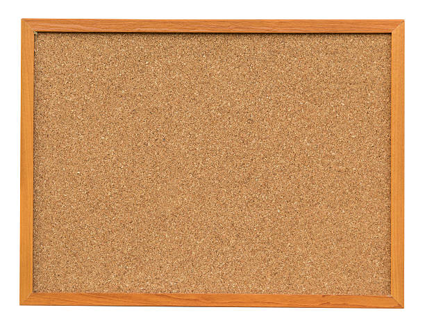 cork board isolated on white with clipping path. - kurk stockfoto's en -beelden