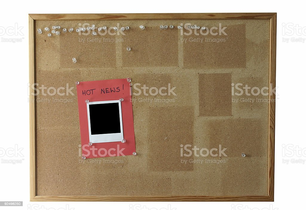 cork board - isolated #2 royalty-free stock photo