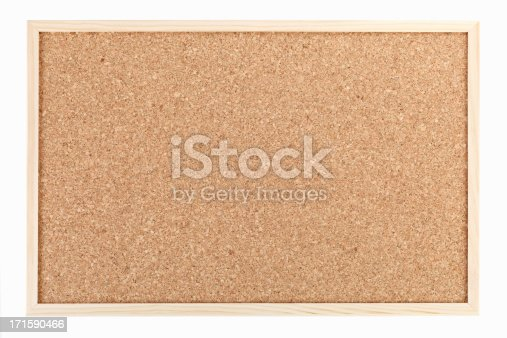 Cork board, isolated on white background
