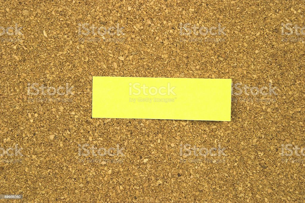 Cork Board w/ Small Sticky Note royalty-free stock photo