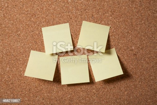 istock Cork Board With Blank Notes 468215857