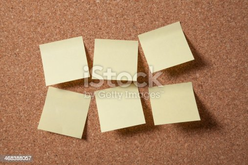 istock Cork Board With Blank Notes 468388057