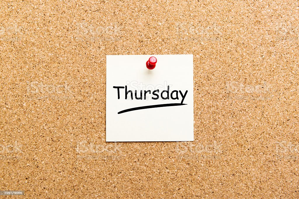 Cork board with paper notes stock photo