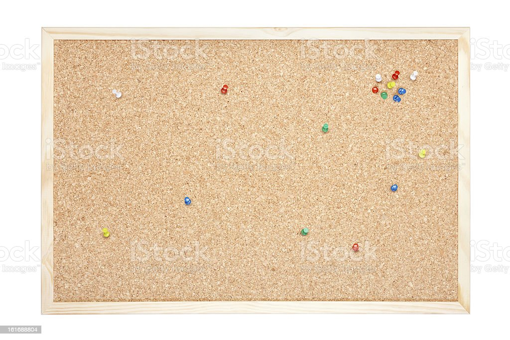 Cork board with pins royalty-free stock photo