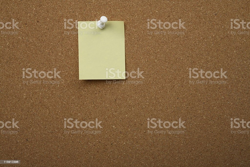 Cork board with postit royalty-free stock photo