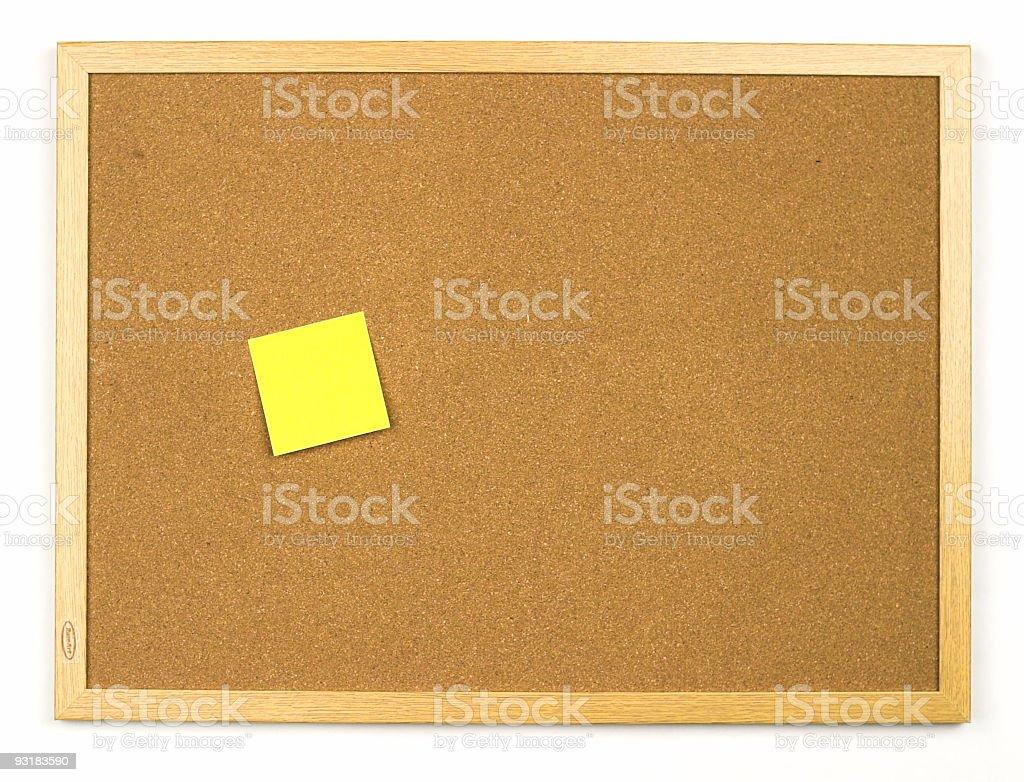Cork Board w/Sticky Note royalty-free stock photo