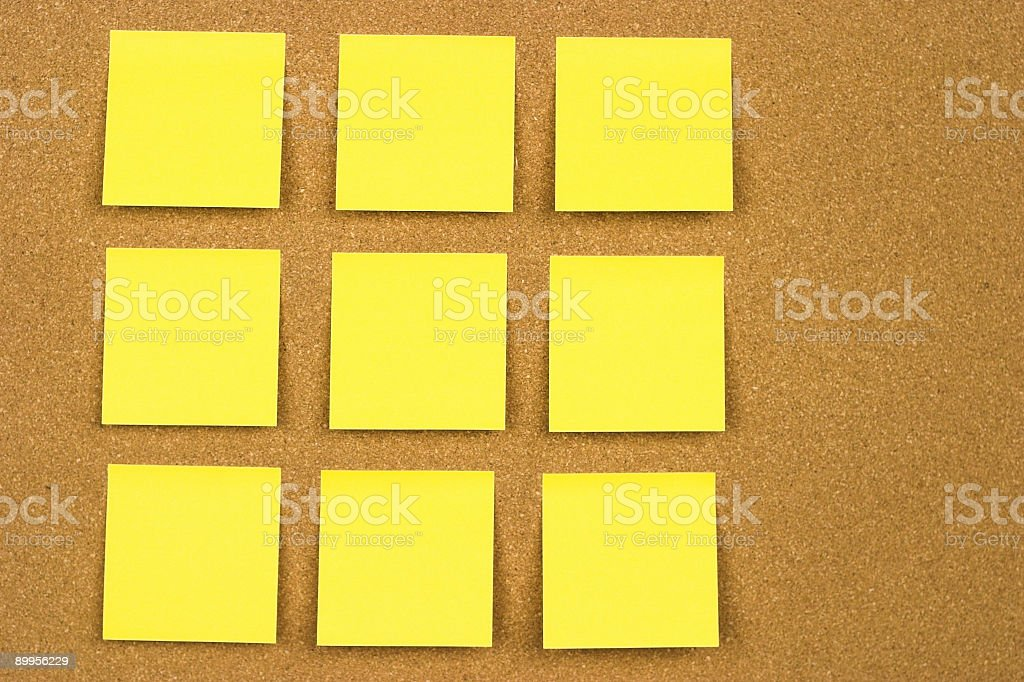 Cork Board w/Sticky Notes royalty-free stock photo