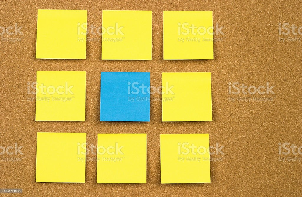 Cork Board w/Sticky Notes royalty-free stock photo