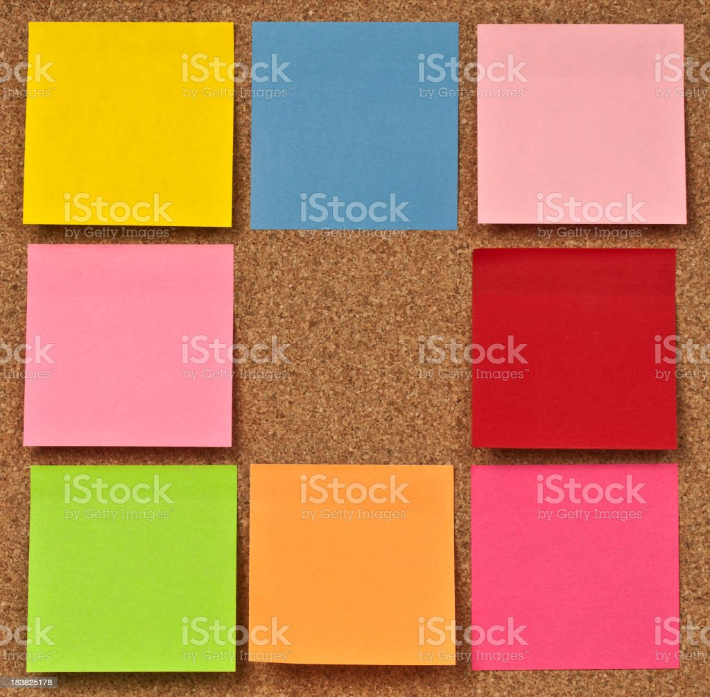 Cork Bullettin Board royalty-free stock photo