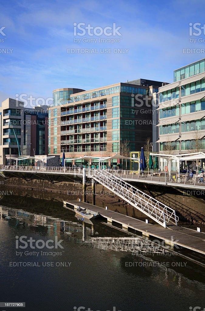 Cork City waterfront royalty-free stock photo