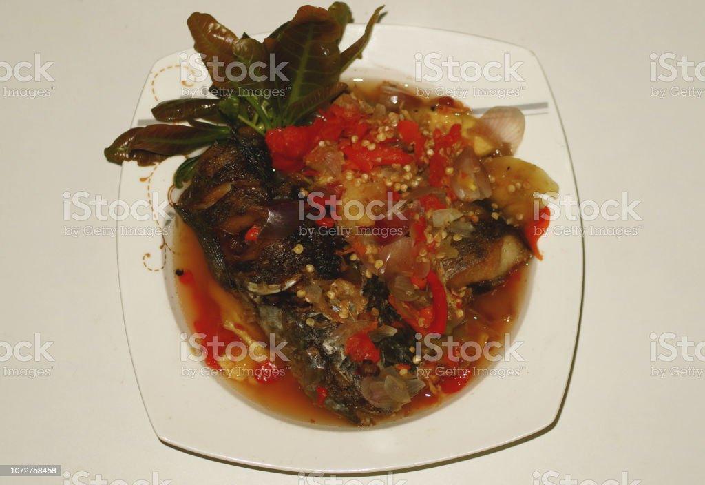 Pecak Ikan Gabus stock photo
