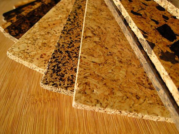 Cork Flooring Swatches stock photo