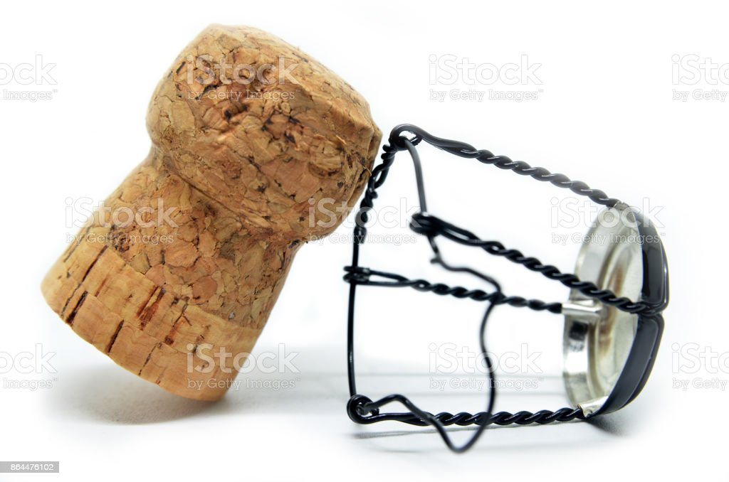 Cork from champagne bottle stock photo