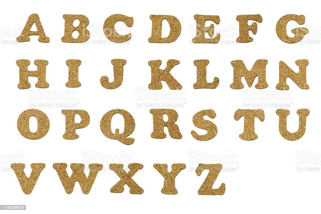 Cork Letters royalty-free stock photo