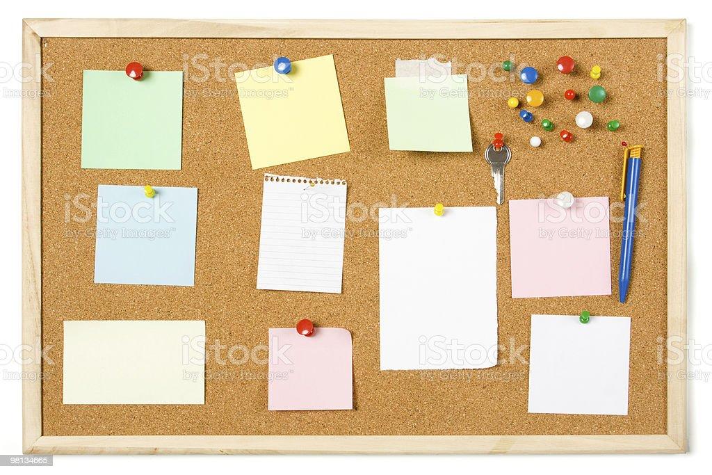 Cork notice board royalty-free stock photo
