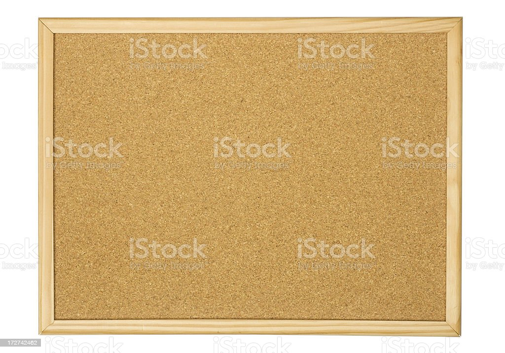 Cork noticeboard royalty-free stock photo